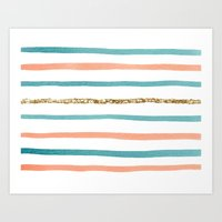 Sparkle Stripe Art Print