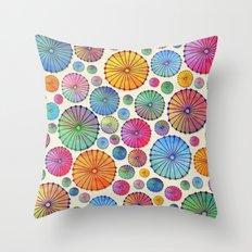 Coctail Umbrellas - Summer Memories Throw Pillow