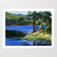 Sun Rays Through the Trees Art Print
