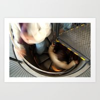 Inside the Astronomical Clock, Prague, Spiral Stairs  Art Print