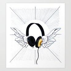 Heavenly sounds Art Print