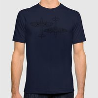 Spitfire Mk. XIV (black) Mens Fitted Tee Navy SMALL