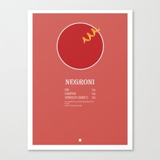 Negroni Cocktail Recipe Poster (Imperial) Canvas Print