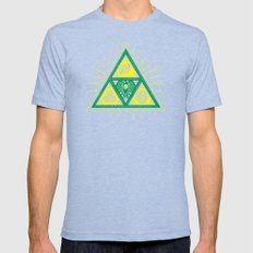 The Tribal Triforce Mens Fitted Tee Tri-Blue SMALL