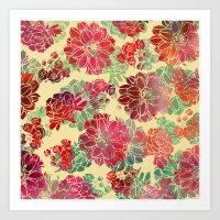 Flower Pattern Design #3 Art Print