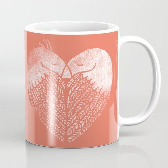 Love birds sitting on a tree Mug