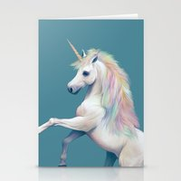 unicorn Stationery Cards featuring Unicorn by ShannonPosedenti
