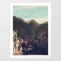 Out of town Art Print
