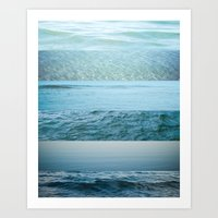 Water Study Abstract Blu… Art Print