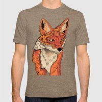 Mr Fox  Mens Fitted Tee Tri-Coffee SMALL