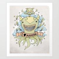 I Love Monster Art Print