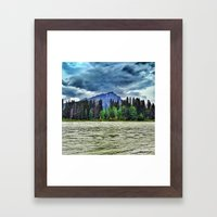 The River And A Mountain… Framed Art Print
