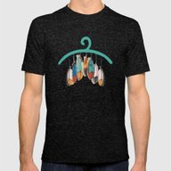 Feather Mens Fitted Tee Tri-Black SMALL