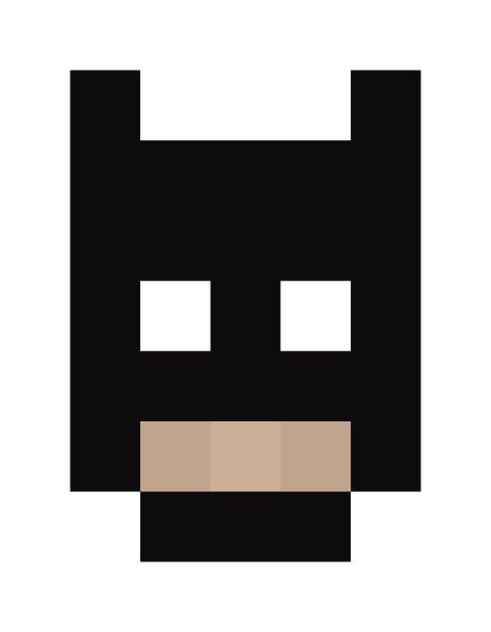 hero pixel black Art Print