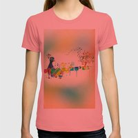 I Heart Life Womens Fitted Tee Pomegranate SMALL