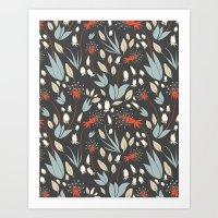 Dandelion Dusk Art Print