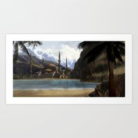 Art Print featuring Hidden in the Mountains by Viggart