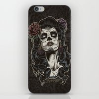 Day of The Dead Woman iPhone & iPod Skin