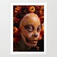 Pumpkin Harvest Muertita… Art Print