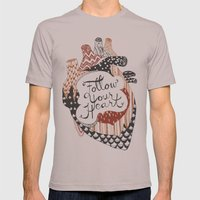Follow Your Heart Mens Fitted Tee Cinder SMALL