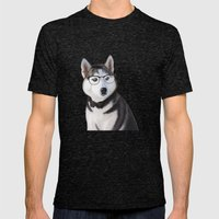 Mr Husky Mens Fitted Tee Tri-Black SMALL