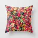 Where The Flowers Cry Throw Pillow