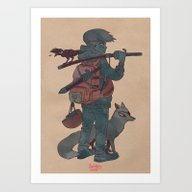 The Raven, The Fox And T… Art Print