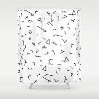 short lines Shower Curtain