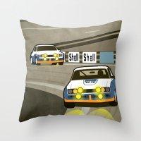 Capri at Le Mans Throw Pillow