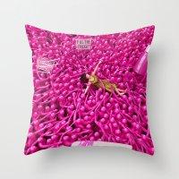 Oppression - Woman Throw Pillow