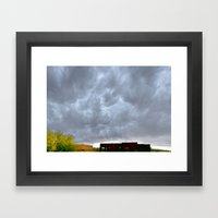 Heaven Reaching Home Framed Art Print