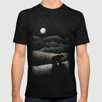 Wandering Bear Mens Fitted Tee Tri-Black SMALL