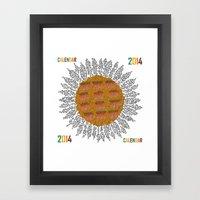 Calendar 2014 - Sunflowe… Framed Art Print