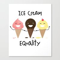 Ice Cream Equality (relo… Canvas Print