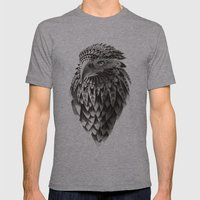 Black And White Ornate R… Mens Fitted Tee Athletic Grey SMALL