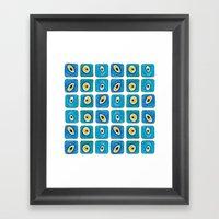 Evil Eye Squares Framed Art Print