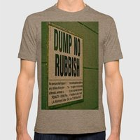 Rubbish Mens Fitted Tee Tri-Coffee SMALL