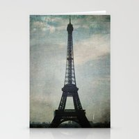 Eiffel Tower in the Storm Stationery Cards