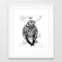 Bird Women 2 Framed Art Print