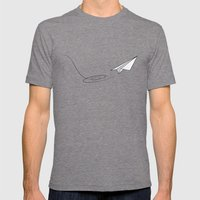 Paperplane Mens Fitted Tee Tri-Grey SMALL