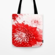 Bouquet In Red, White An… Tote Bag