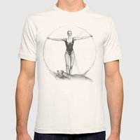 VITRUVIAN LADY Mens Fitted Tee Natural SMALL