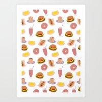 American Diner Food Art Print