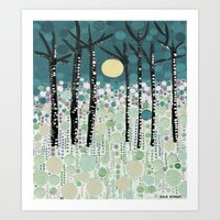 :: Moonlight Kiss :: Art Print