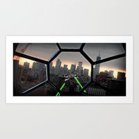 Tie Hunting X-Wing Art Print