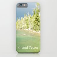 iPhone & iPod Case featuring Grand Teton National Park. Landscape photography of lake and trees. by NatureMatters