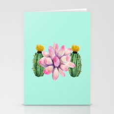Watercolor cactus  Stationery Cards