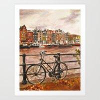 Going Dutch (red) Art Print
