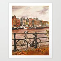 Going Dutch (red) Art Print