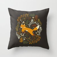 Fox Tales Throw Pillow